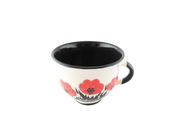Handmade Pottery Coffee Cup 6.7oz with red Poppy Yin and Yang. - Handmade Ceramics and pottery | Teapots, Coffee and Tea Mugs, Vases, Bowls, Plates, Ashtrays | Handmade stoneware - 5