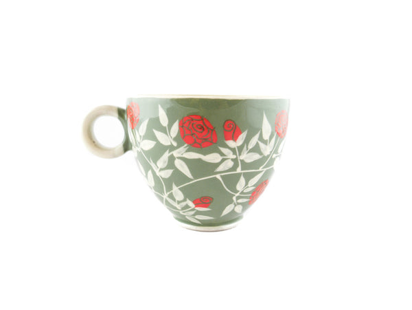 Handmade Pottery Coffee Mug 13oz with Roses Yin and Yang - Handmade Ceramics and pottery | Teapots, Coffee and Tea Mugs, Vases, Bowls, Plates, Ashtrays | Handmade stoneware - 4