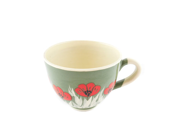Handmade Pottery Cup 13oz with red poppy for tea or coffee - Handmade Ceramics and pottery | Teapots, Coffee and Tea Mugs, Vases, Bowls, Plates, Ashtrays | Handmade stoneware - 5