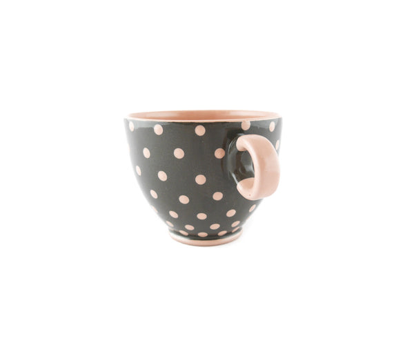 Handmade Pottery Pink Polka Dot Cup 13oz Yin and Yang - Handmade Ceramics and pottery | Teapots, Coffee and Tea Mugs, Vases, Bowls, Plates, Ashtrays | Handmade stoneware - 2