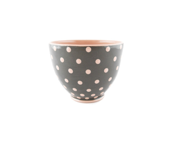 Handmade Pottery Pink Polka Dot Cup 13oz Yin and Yang - Handmade Ceramics and pottery | Teapots, Coffee and Tea Mugs, Vases, Bowls, Plates, Ashtrays | Handmade stoneware - 3