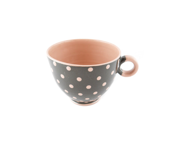 Handmade Pottery Pink Polka Dot Cup 13oz Yin and Yang - Handmade Ceramics and pottery | Teapots, Coffee and Tea Mugs, Vases, Bowls, Plates, Ashtrays | Handmade stoneware - 5