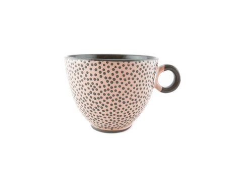 Handmade Pottery Polka Dot Cup 13oz Yin and Yang - Handmade Ceramics and pottery | Teapots, Coffee and Tea Mugs, Vases, Bowls, Plates, Ashtrays | Handmade stoneware - 1