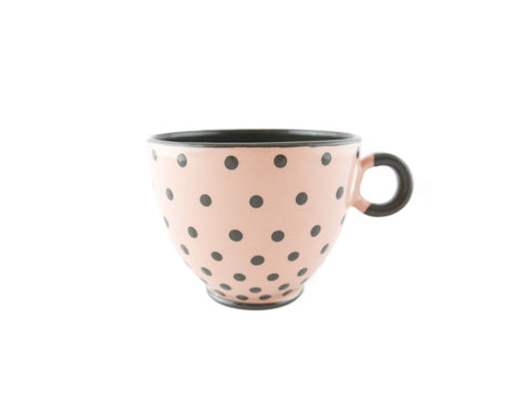 Handmade Pottery Polka Dot Cup 13oz with Gray Dots Yin and Yang - Handmade Ceramics and pottery | Teapots, Coffee and Tea Mugs, Vases, Bowls, Plates, Ashtrays | Handmade stoneware - 1