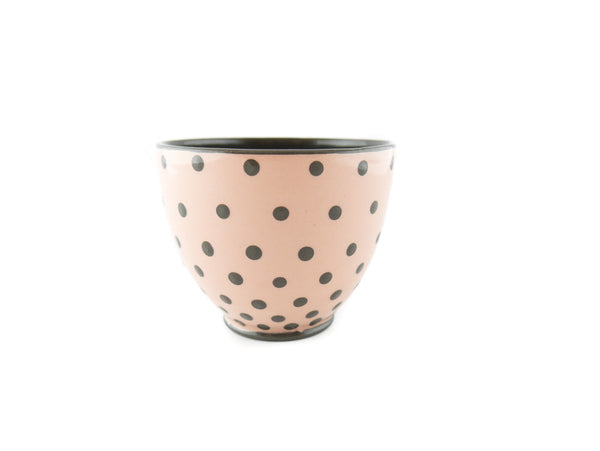 Handmade Pottery Polka Dot Cup 13oz with Gray Dots Yin and Yang - Handmade Ceramics and pottery | Teapots, Coffee and Tea Mugs, Vases, Bowls, Plates, Ashtrays | Handmade stoneware - 3