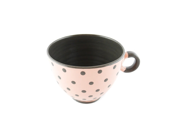 Handmade Pottery Polka Dot Cup 13oz with Gray Dots Yin and Yang - Handmade Ceramics and pottery | Teapots, Coffee and Tea Mugs, Vases, Bowls, Plates, Ashtrays | Handmade stoneware - 6