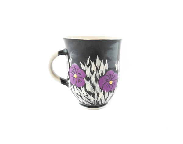 Handmade Pottery Coffee Mug 13oz Violets Yin and Yang - Handmade Ceramics and pottery | Teapots, Coffee and Tea Mugs, Vases, Bowls, Plates, Ashtrays | Handmade stoneware - 4