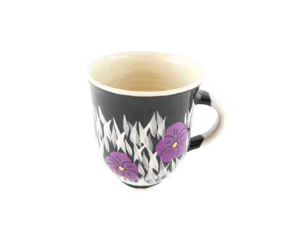 Handmade Pottery Coffee Mug 13oz Violets Yin and Yang - Handmade Ceramics and pottery | Teapots, Coffee and Tea Mugs, Vases, Bowls, Plates, Ashtrays | Handmade stoneware - 5