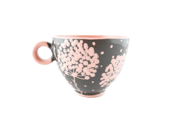 Handmade Pottery Cup 13oz with pink tree and Yin and Yang - Handmade Ceramics and pottery | Teapots, Coffee and Tea Mugs, Vases, Bowls, Plates, Ashtrays | Handmade stoneware - 4