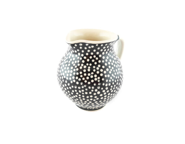 Black with white dots Milk Creamer 10oz - Handmade Ceramics and pottery | Teapots, Coffee and Tea Mugs, Vases, Bowls, Plates, Ashtrays | Handmade stoneware - 3