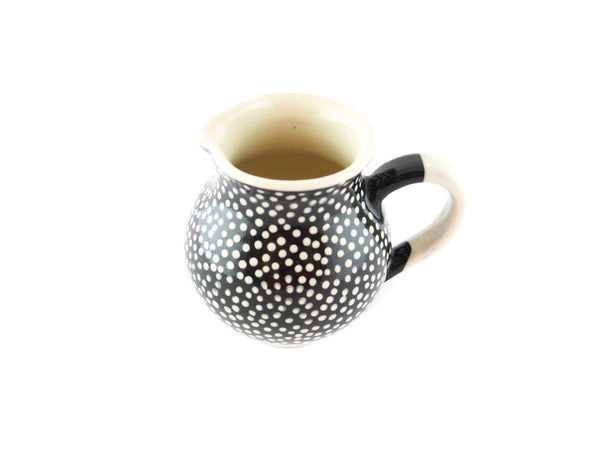 Black with white dots Milk Creamer 10oz - Handmade Ceramics and pottery | Teapots, Coffee and Tea Mugs, Vases, Bowls, Plates, Ashtrays | Handmade stoneware - 5