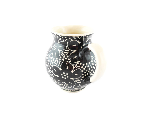Black with white dots Milk Creamer 10oz - Handmade Ceramics and pottery | Teapots, Coffee and Tea Mugs, Vases, Bowls, Plates, Ashtrays | Handmade stoneware - 2