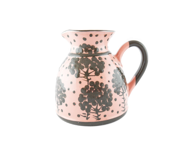 Pink with grey tree Milk Creamer 11.5oz - Handmade Ceramics and pottery | Teapots, Coffee and Tea Mugs, Vases, Bowls, Plates, Ashtrays | Handmade stoneware - 1