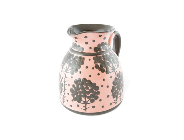 Pink with grey tree Milk Creamer 11.5oz - Handmade Ceramics and pottery | Teapots, Coffee and Tea Mugs, Vases, Bowls, Plates, Ashtrays | Handmade stoneware - 4
