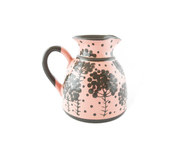 Pink with grey tree Milk Creamer 11.5oz - Handmade Ceramics and pottery | Teapots, Coffee and Tea Mugs, Vases, Bowls, Plates, Ashtrays | Handmade stoneware - 5