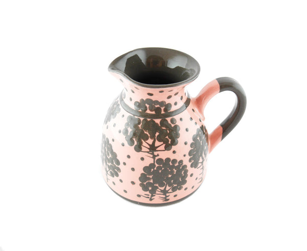 Pink with grey tree Milk Creamer 11.5oz - Handmade Ceramics and pottery | Teapots, Coffee and Tea Mugs, Vases, Bowls, Plates, Ashtrays | Handmade stoneware - 2