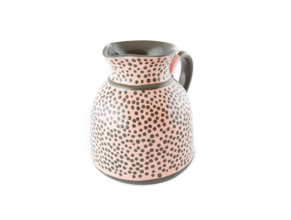 Pink with grey dots Milk Creamer 11.5oz - Handmade Ceramics and pottery | Teapots, Coffee and Tea Mugs, Vases, Bowls, Plates, Ashtrays | Handmade stoneware - 3
