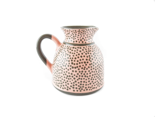 Pink with grey dots Milk Creamer 11.5oz - Handmade Ceramics and pottery | Teapots, Coffee and Tea Mugs, Vases, Bowls, Plates, Ashtrays | Handmade stoneware - 4