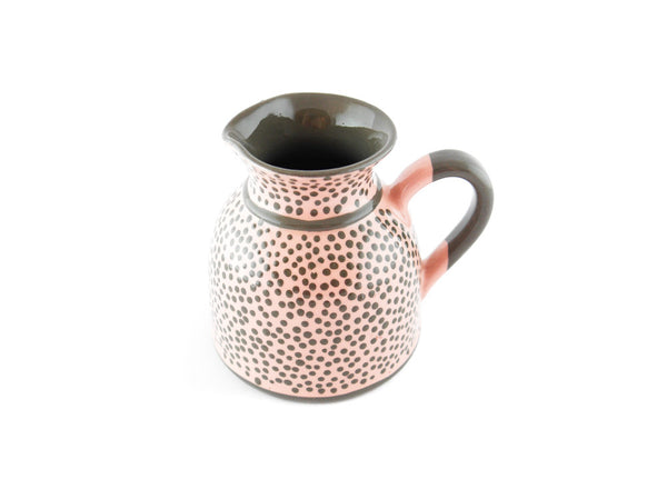 Pink with grey dots Milk Creamer 11.5oz - Handmade Ceramics and pottery | Teapots, Coffee and Tea Mugs, Vases, Bowls, Plates, Ashtrays | Handmade stoneware - 5