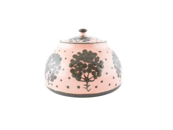 Pink with grey tree Sugar Bowl - Handmade Ceramics and pottery | Teapots, Coffee and Tea Mugs, Vases, Bowls, Plates, Ashtrays | Handmade stoneware - 3