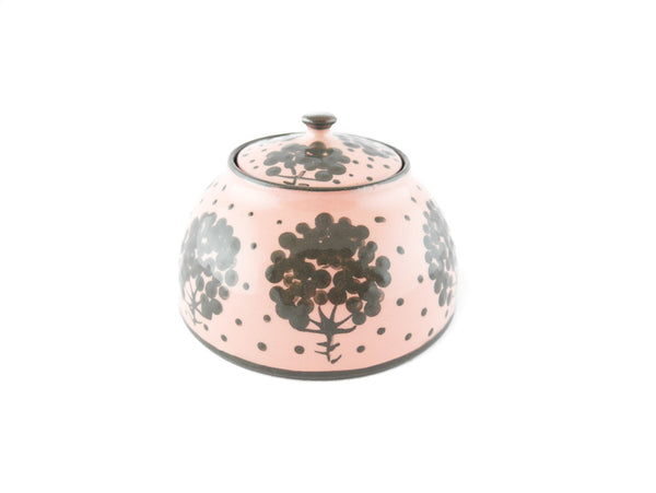 Pink with grey tree Sugar Bowl - Handmade Ceramics and pottery | Teapots, Coffee and Tea Mugs, Vases, Bowls, Plates, Ashtrays | Handmade stoneware - 4