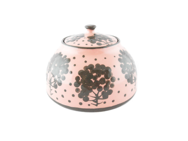 Pink with grey tree Sugar Bowl - Handmade Ceramics and pottery | Teapots, Coffee and Tea Mugs, Vases, Bowls, Plates, Ashtrays | Handmade stoneware - 1