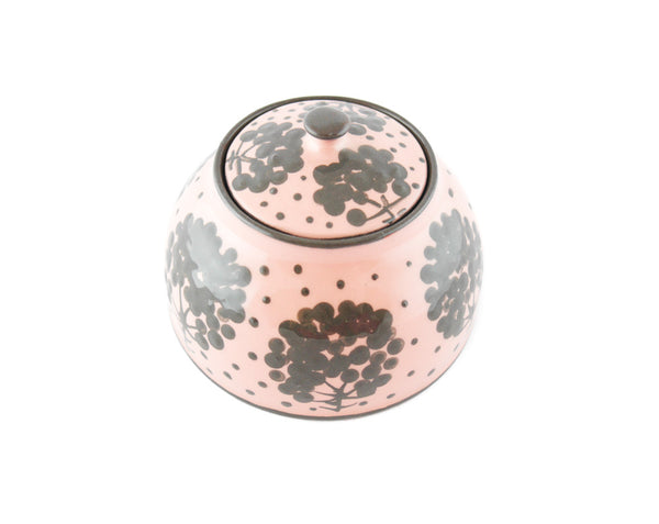 Pink with grey tree Sugar Bowl - Handmade Ceramics and pottery | Teapots, Coffee and Tea Mugs, Vases, Bowls, Plates, Ashtrays | Handmade stoneware - 5