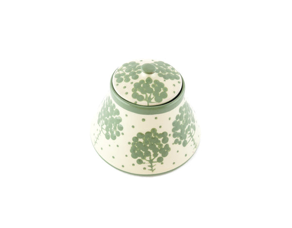 White with green tree Sugar Bowl - Handmade Ceramics and pottery | Teapots, Coffee and Tea Mugs, Vases, Bowls, Plates, Ashtrays | Handmade stoneware - 3