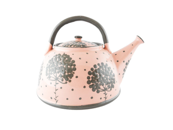 Pink with grey tree Ceramic Teapot 30oz - Handmade Ceramics and pottery | Teapots, Coffee and Tea Mugs, Vases, Bowls, Plates, Ashtrays | Handmade stoneware - 4