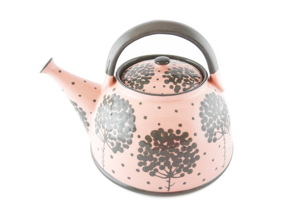 Pink with grey tree Ceramic Teapot 30oz - Handmade Ceramics and pottery | Teapots, Coffee and Tea Mugs, Vases, Bowls, Plates, Ashtrays | Handmade stoneware - 5