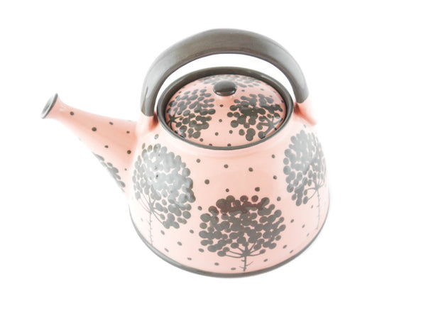 Pink with grey tree Ceramic Teapot 30oz - Handmade Ceramics and pottery | Teapots, Coffee and Tea Mugs, Vases, Bowls, Plates, Ashtrays | Handmade stoneware - 6