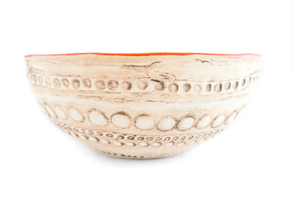 "R13 Medium Pottery Fruit Bowl 7"" - Handmade Ceramics and pottery 