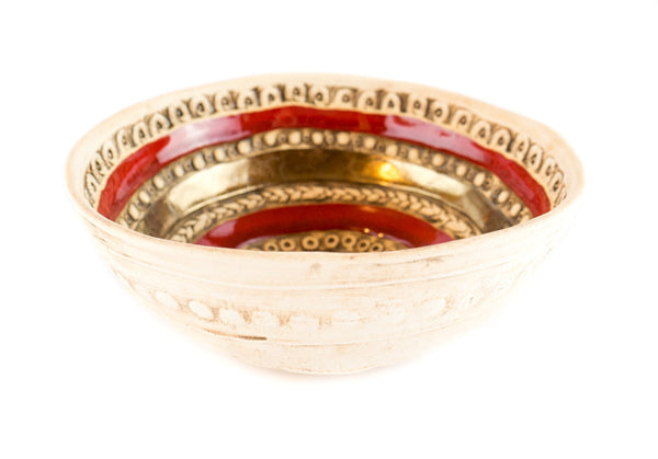 "R14- Medium Pottery Fruit Bowl 7"" - Handmade Ceramics and pottery 