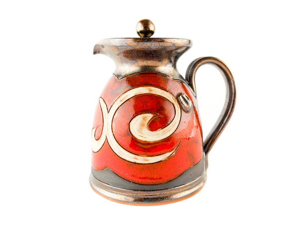 Pottery Creamer with Lid 8.5oz Orient - Handmade Ceramics and pottery | Teapots, Coffee and Tea Mugs, Vases, Bowls, Plates, Ashtrays | Handmade stoneware - 1