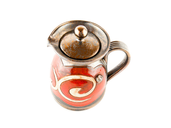 Pottery Creamer with Lid 8.5oz Orient - Handmade Ceramics and pottery | Teapots, Coffee and Tea Mugs, Vases, Bowls, Plates, Ashtrays | Handmade stoneware - 4