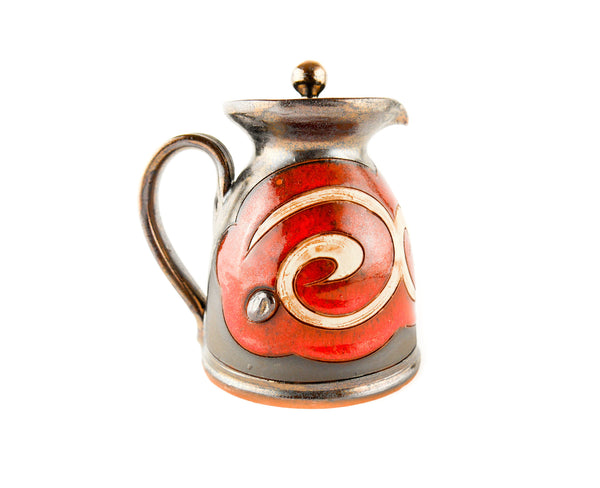 Pottery Creamer with Lid 8.5oz Orient - Handmade Ceramics and pottery | Teapots, Coffee and Tea Mugs, Vases, Bowls, Plates, Ashtrays | Handmade stoneware - 5