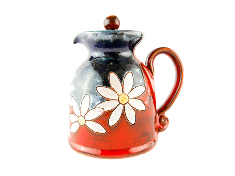 Handmade Pottery Creamer 8.5oz Daisy - Handmade Ceramics and pottery | Teapots, Coffee and Tea Mugs, Vases, Bowls, Plates, Ashtrays | Handmade stoneware - 1