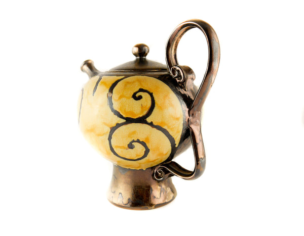 Handmade Ceramic Teapot 50oz Gold - Handmade Ceramics and pottery | Teapots, Coffee and Tea Mugs, Vases, Bowls, Plates, Ashtrays | Handmade stoneware - 2