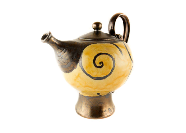Handmade Ceramic Teapot 50oz Gold - Handmade Ceramics and pottery | Teapots, Coffee and Tea Mugs, Vases, Bowls, Plates, Ashtrays | Handmade stoneware - 3