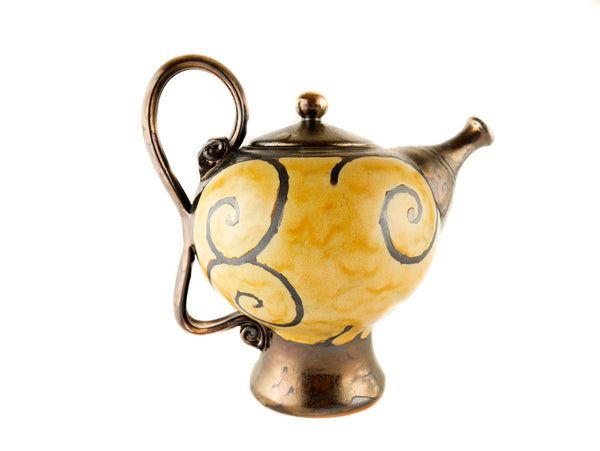 Handmade Ceramic Teapot 50oz Gold - Handmade Ceramics and pottery | Teapots, Coffee and Tea Mugs, Vases, Bowls, Plates, Ashtrays | Handmade stoneware - 4