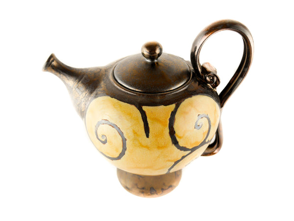 Handmade Ceramic Teapot 50oz Gold - Handmade Ceramics and pottery | Teapots, Coffee and Tea Mugs, Vases, Bowls, Plates, Ashtrays | Handmade stoneware - 5