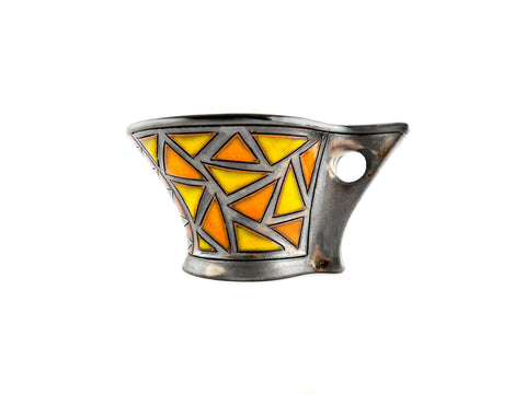 Espresso Coffee Cup 3.5oz with Triangles