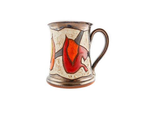 Handmade Pottery Mug 8.5oz Autumn - Handmade Ceramics and pottery | Teapots, Coffee and Tea Mugs, Vases, Bowls, Plates, Ashtrays | Handmade stoneware - 1