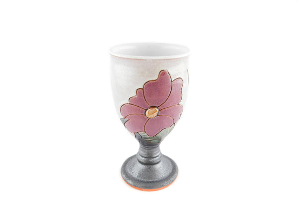 Handmade Ceramic Wine Goblet 6oz Flower - Handmade Ceramics and pottery | Teapots, Coffee and Tea Mugs, Vases, Bowls, Plates, Ashtrays | Handmade stoneware - 2