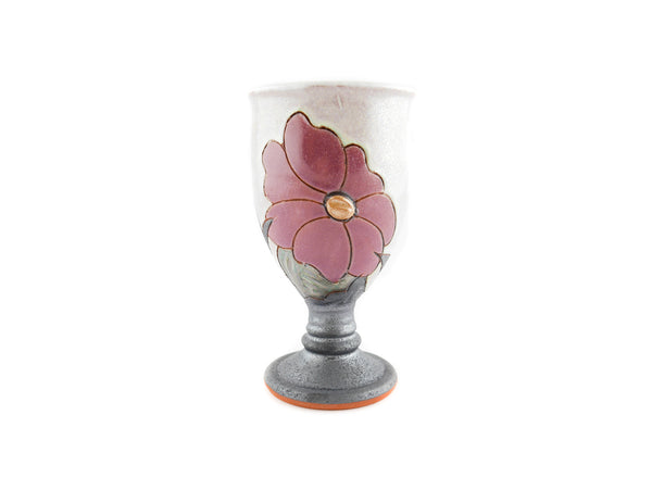 Handmade Ceramic Wine Goblet 6oz Flower - Handmade Ceramics and pottery | Teapots, Coffee and Tea Mugs, Vases, Bowls, Plates, Ashtrays | Handmade stoneware - 4
