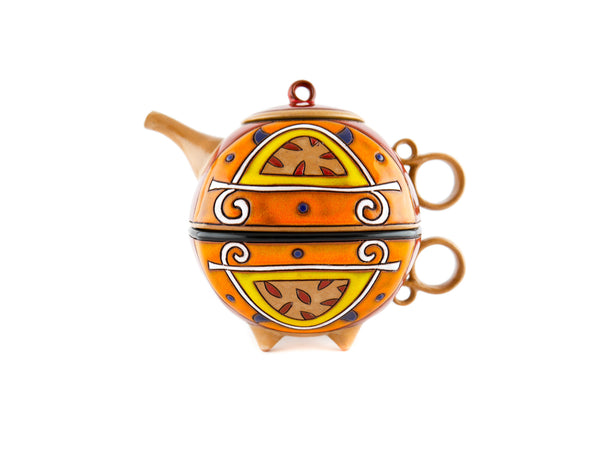 Tea For One Set Teapot -  Orange - Handmade Ceramics and pottery