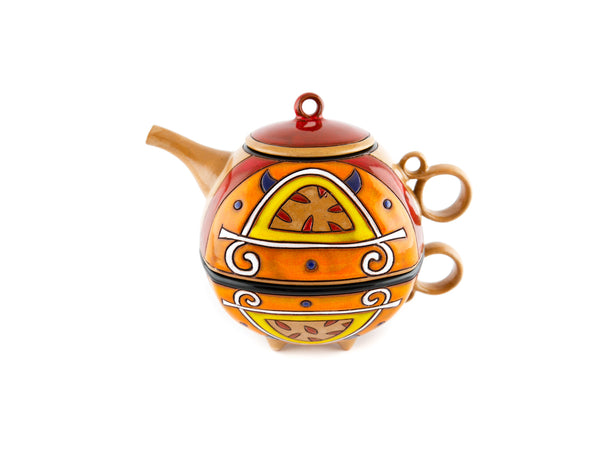 Tea For One Set Teapot - Orange