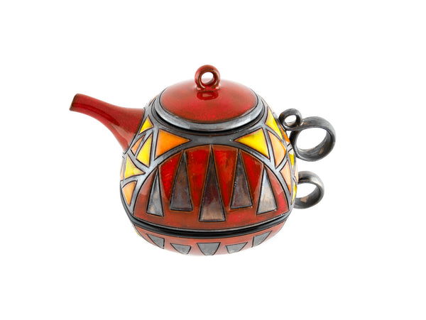 Tea For One Set Teapot -  Triangles
