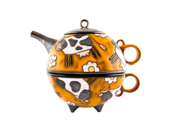 Teapot for One - Swiss Cows