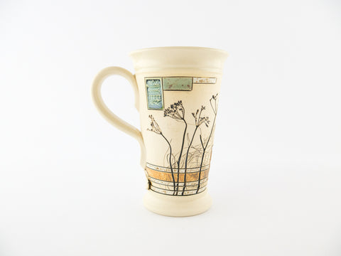 Handmade Pottery Mug 6.8oz Nature Mug 1 - Handmade Ceramics and pottery | Teapots, Coffee and Tea Mugs, Vases, Bowls, Plates, Ashtrays | Handmade stoneware - 1